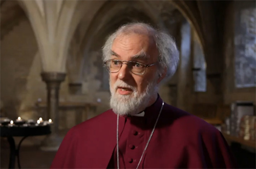 El arzobispo de Canterbury, Rowan Williams